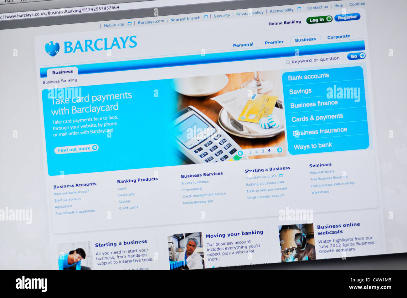 Barclays website - online banking Stock Photo: 50951941 - Alamy