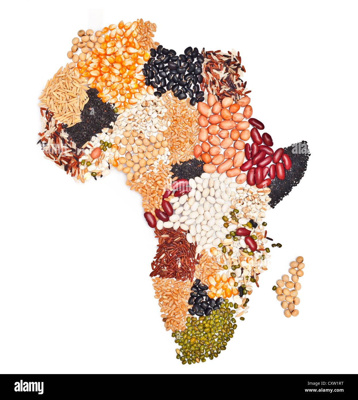 Africa Map Background.Africa Map Food On White Background Stock Photo 50952044 Alamy