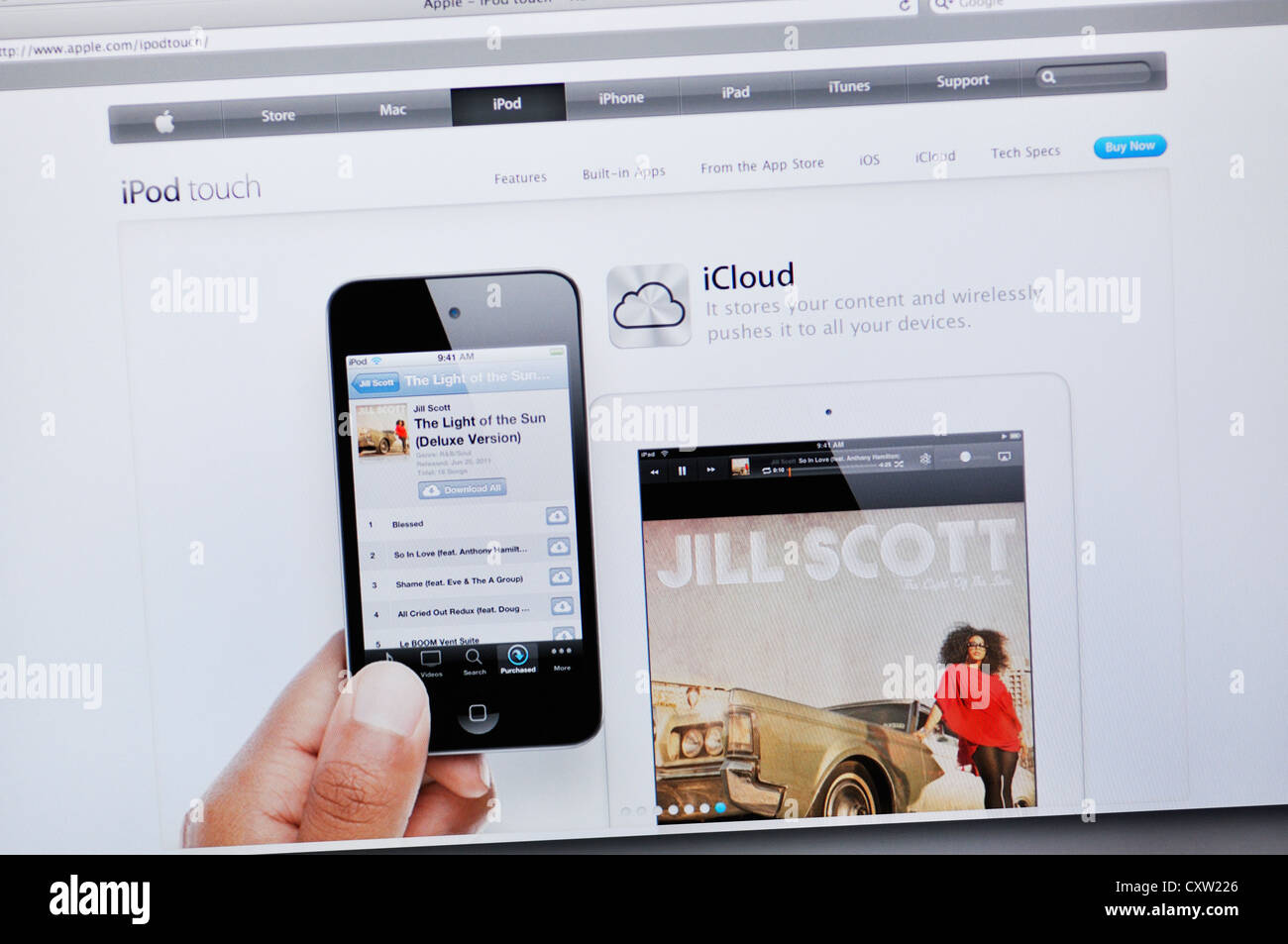 ipad apple store website stock photo alamy