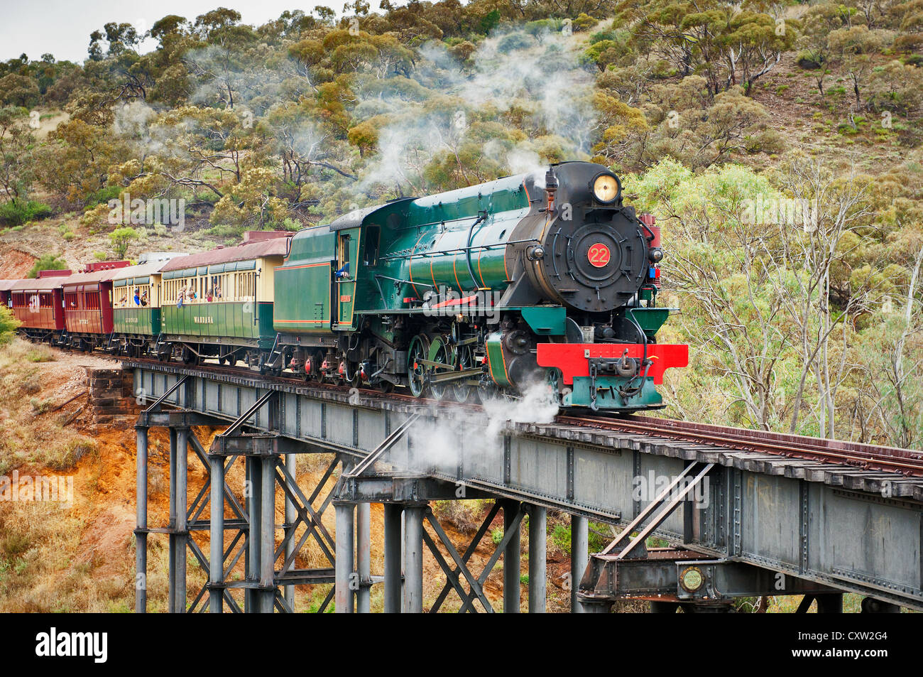 Historical Pichi Richi Railway in the South of the Flinders Ranges. - Stock Image