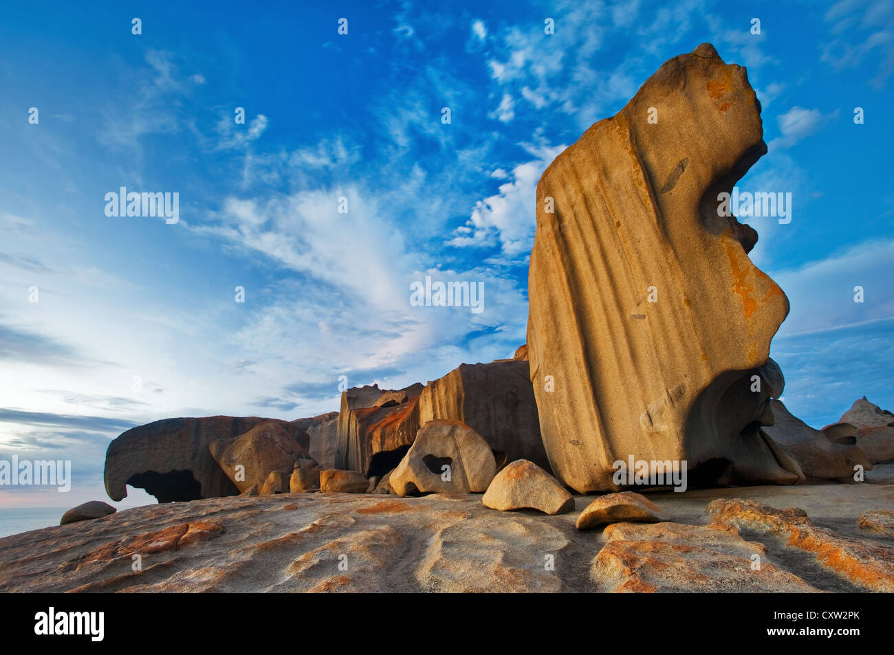 Remarkable Rocks in early morning light. - Stock Image