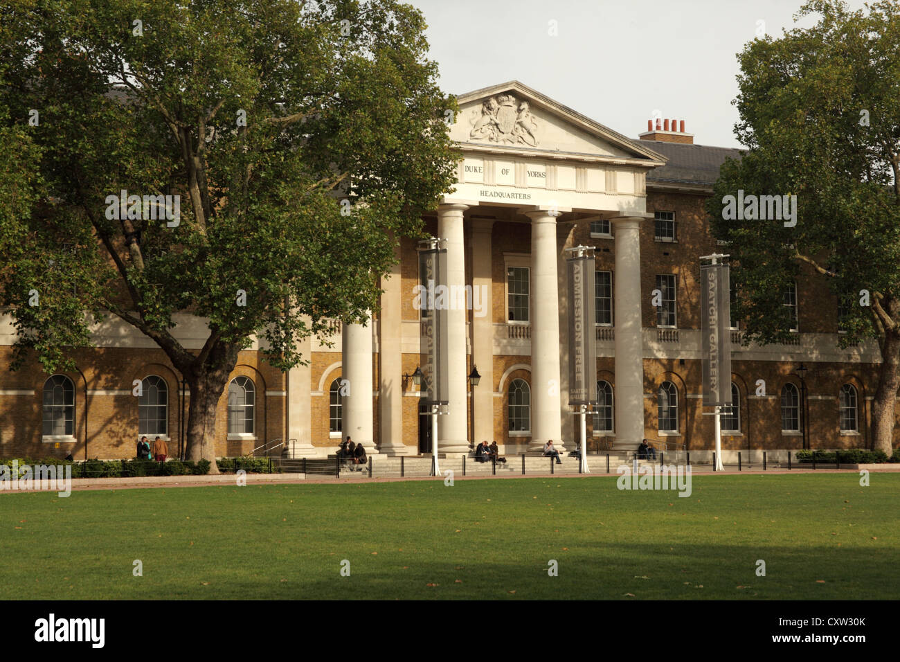 The Saatchi Gallery at the Duke of Yorks HQ in Kings Road Chelsea London - Stock Image