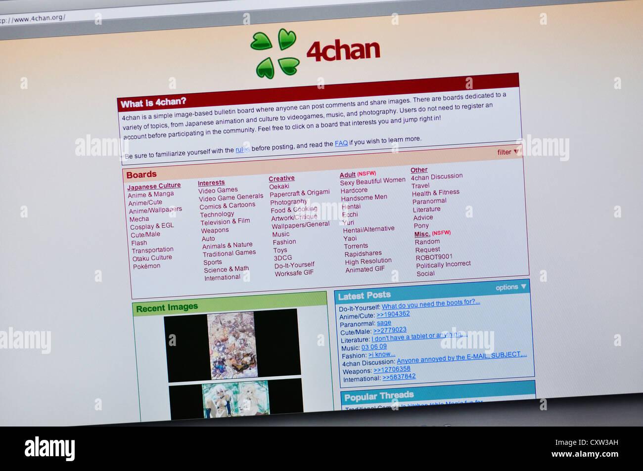 4Chan Gif 4chan website - online bulletin board stock photo - alamy