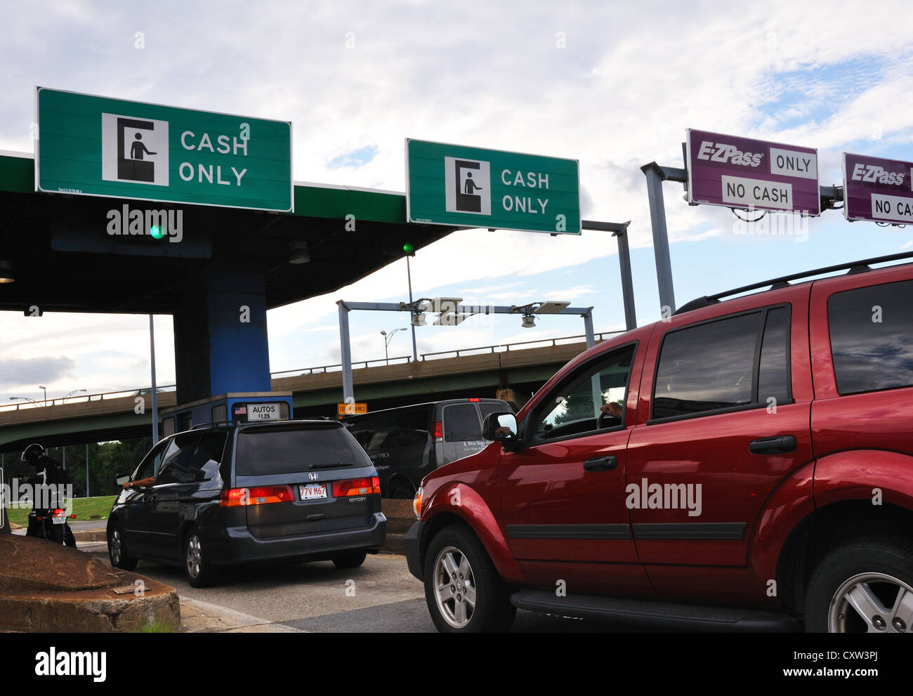 Car toll in New York City, USA Stock Photo