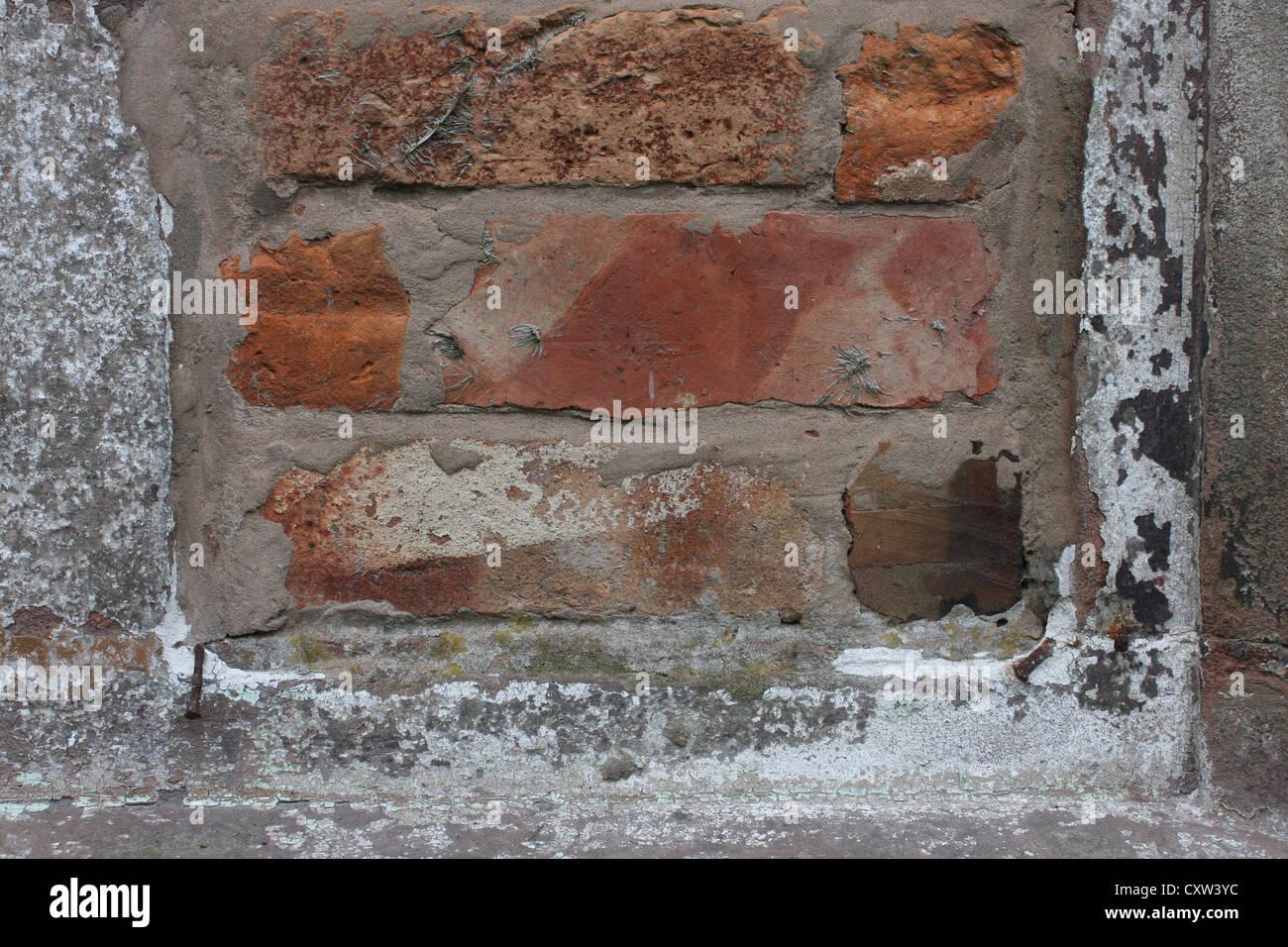 Bricked-up-window, church , Cheshire - Stock Image