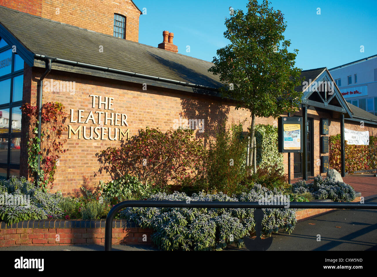Entrance to the Leather Museum Walsall UK - Stock Image