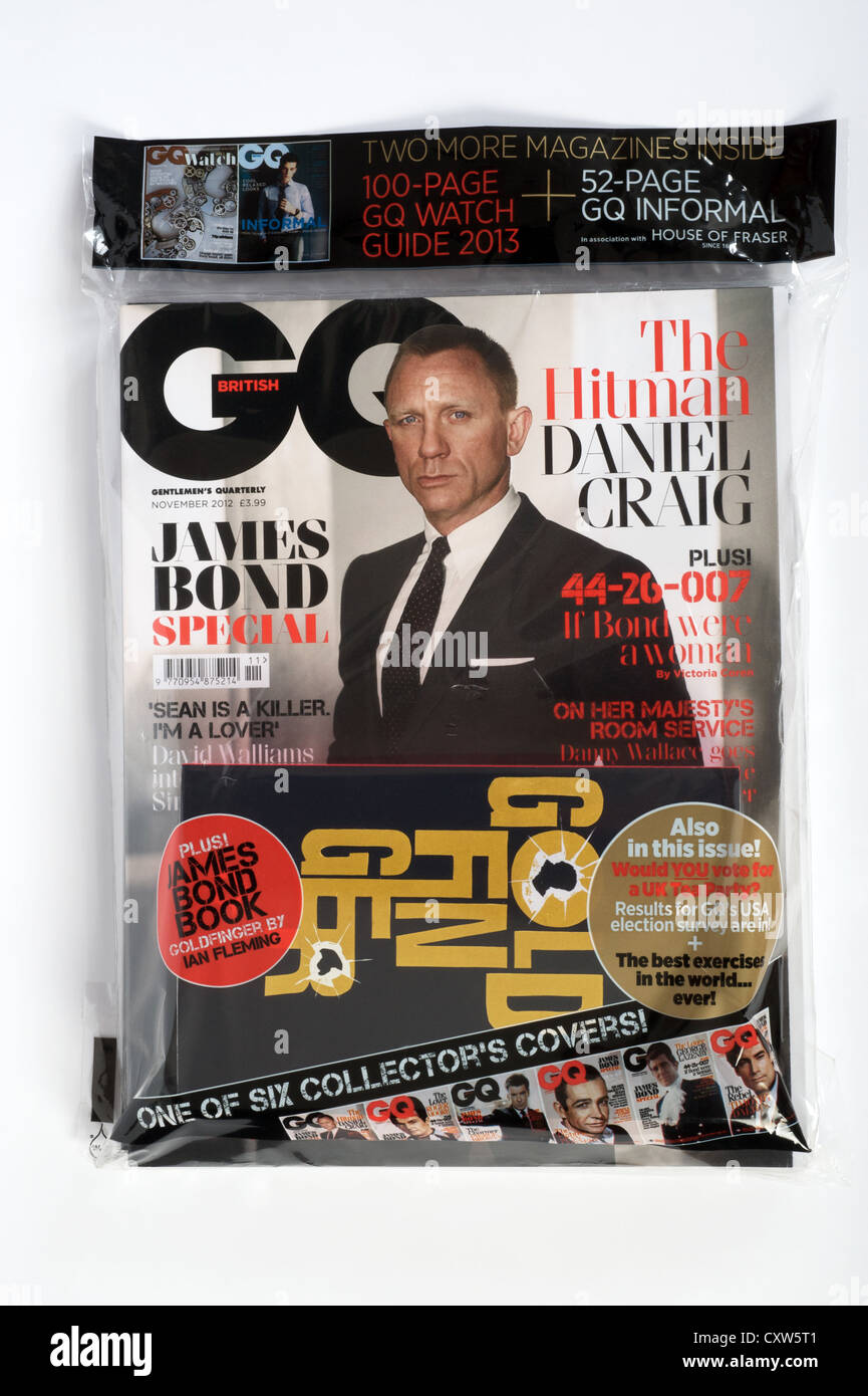British GQ mens magazine - Stock Image