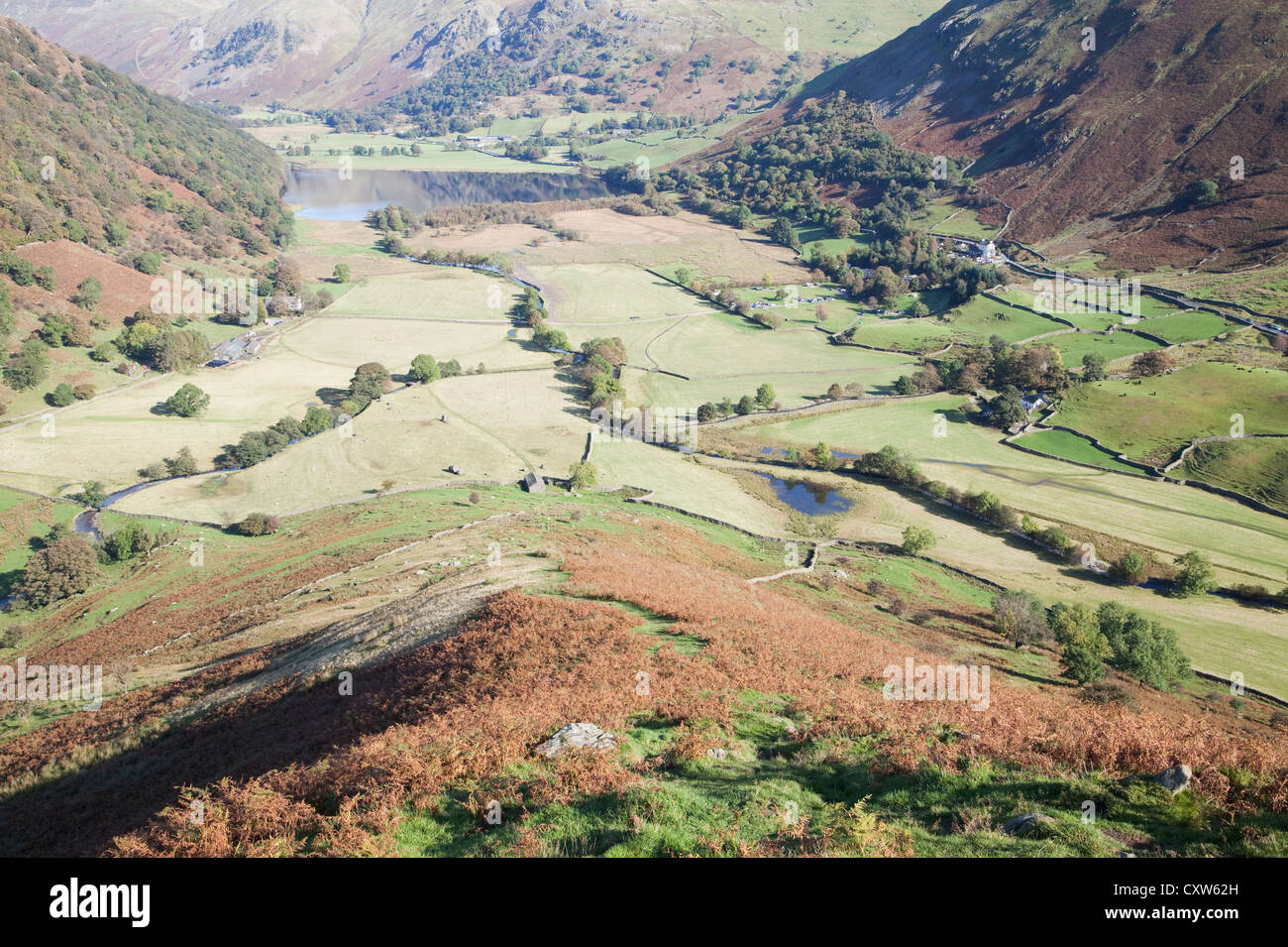 Brothers Water from the slopes of High Hartsop Dodd in autumn - Stock Image