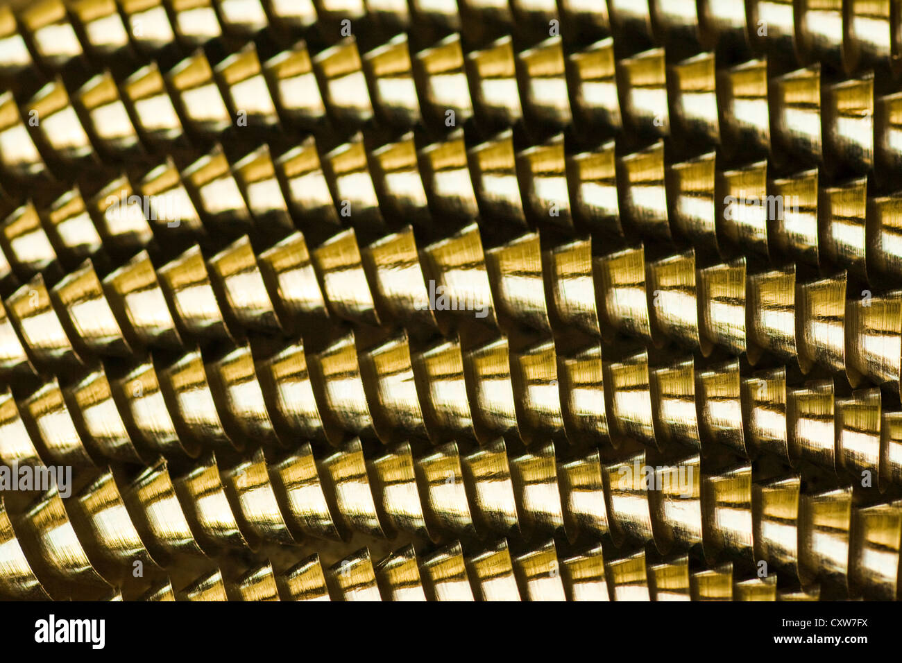 Abstract image of coiled machining swarf from a metal lathe. Number 3 - Stock Image