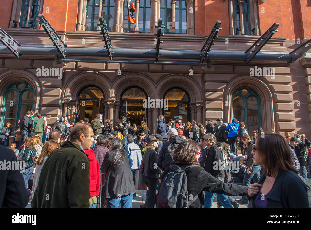 New York City, NY, USA, Crowd Outside, Public Theater, Street Festival, Lafayette Street, in Greenwich Village Area, - Stock Image