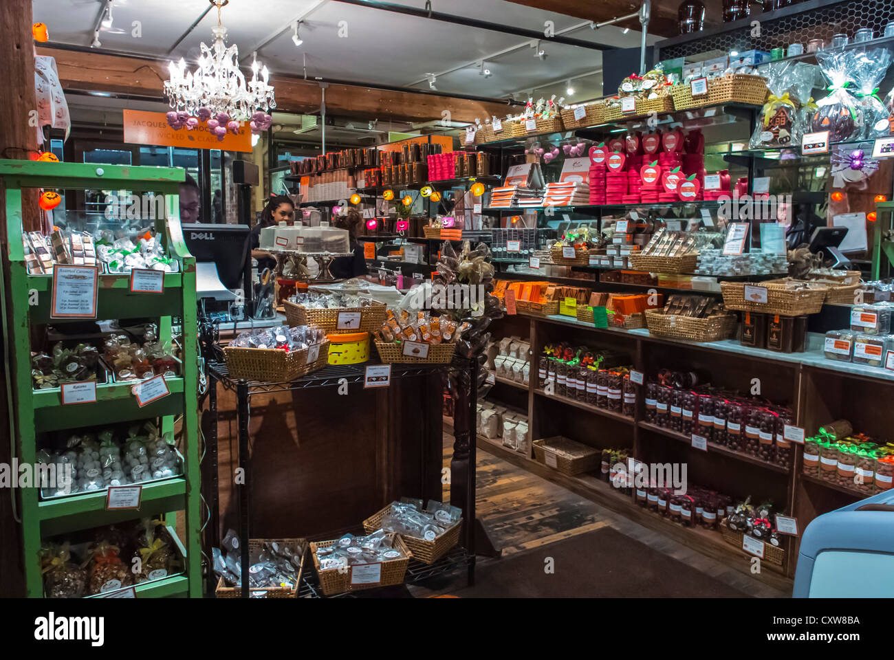 New York City, NY, USA, French Chocolatier Shop 'Jacques Torres', in the Chelsea Market, Shopping Center, - Stock Image