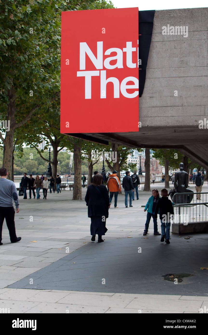 National Theatre, Southbank, London, UK - Stock Image