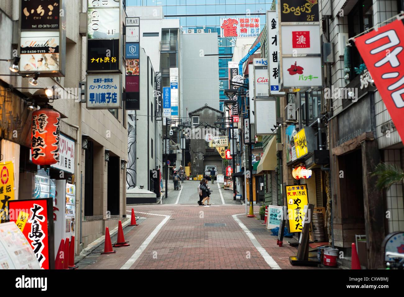 Bars and restaurants and Dogenzaka, Shibuya - Stock Image