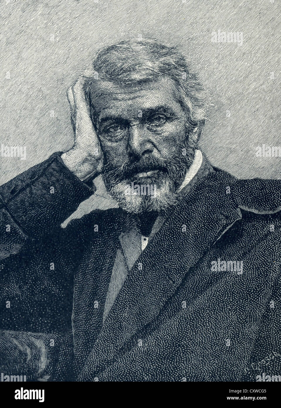 Thomas Carlyle was a British man of letters. After working as a teacher, he became the interpreter of German Romanticism. - Stock Image