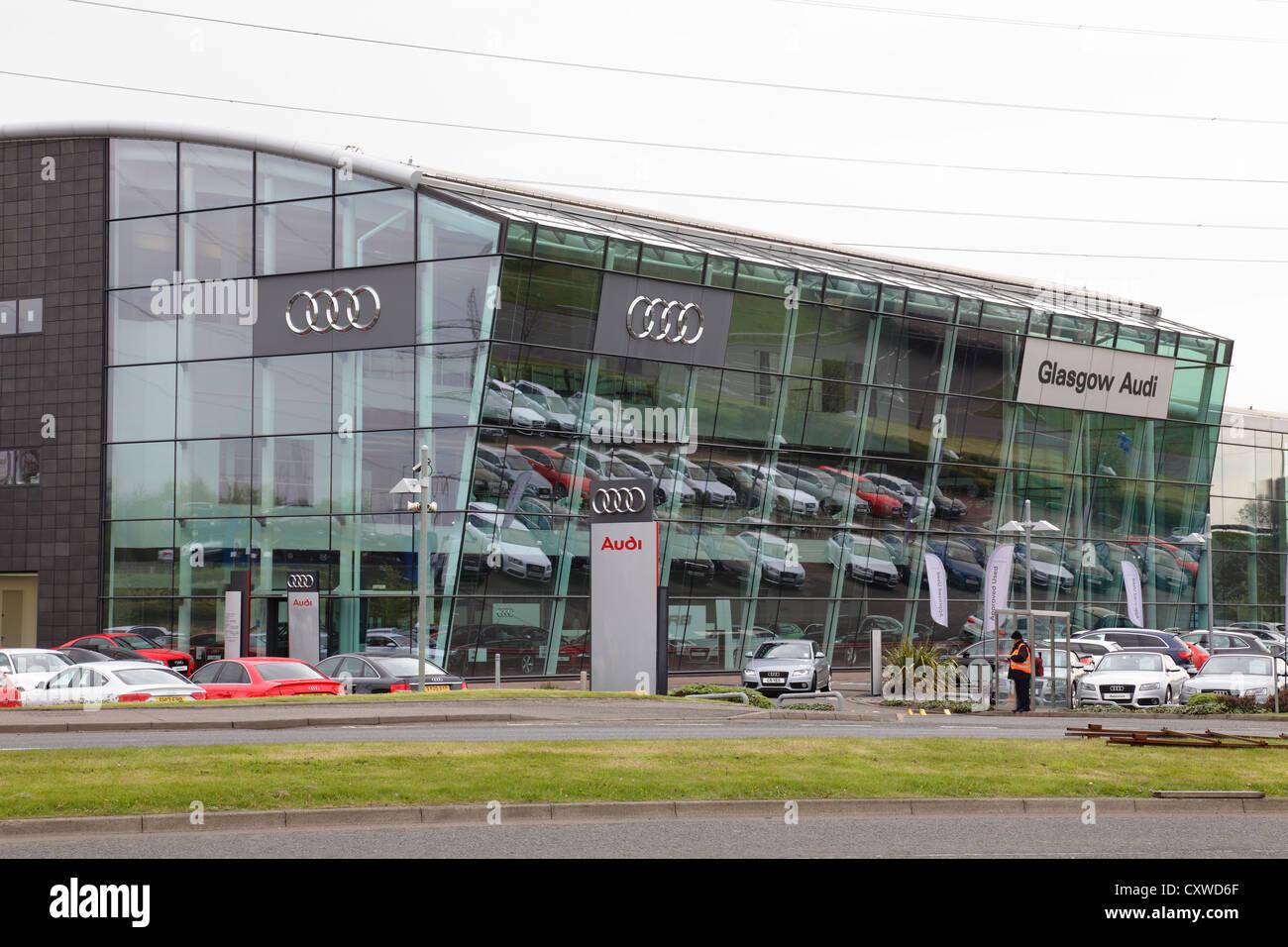 The Glasgow Audi Car Dealership, Scotland, UK - Stock Image