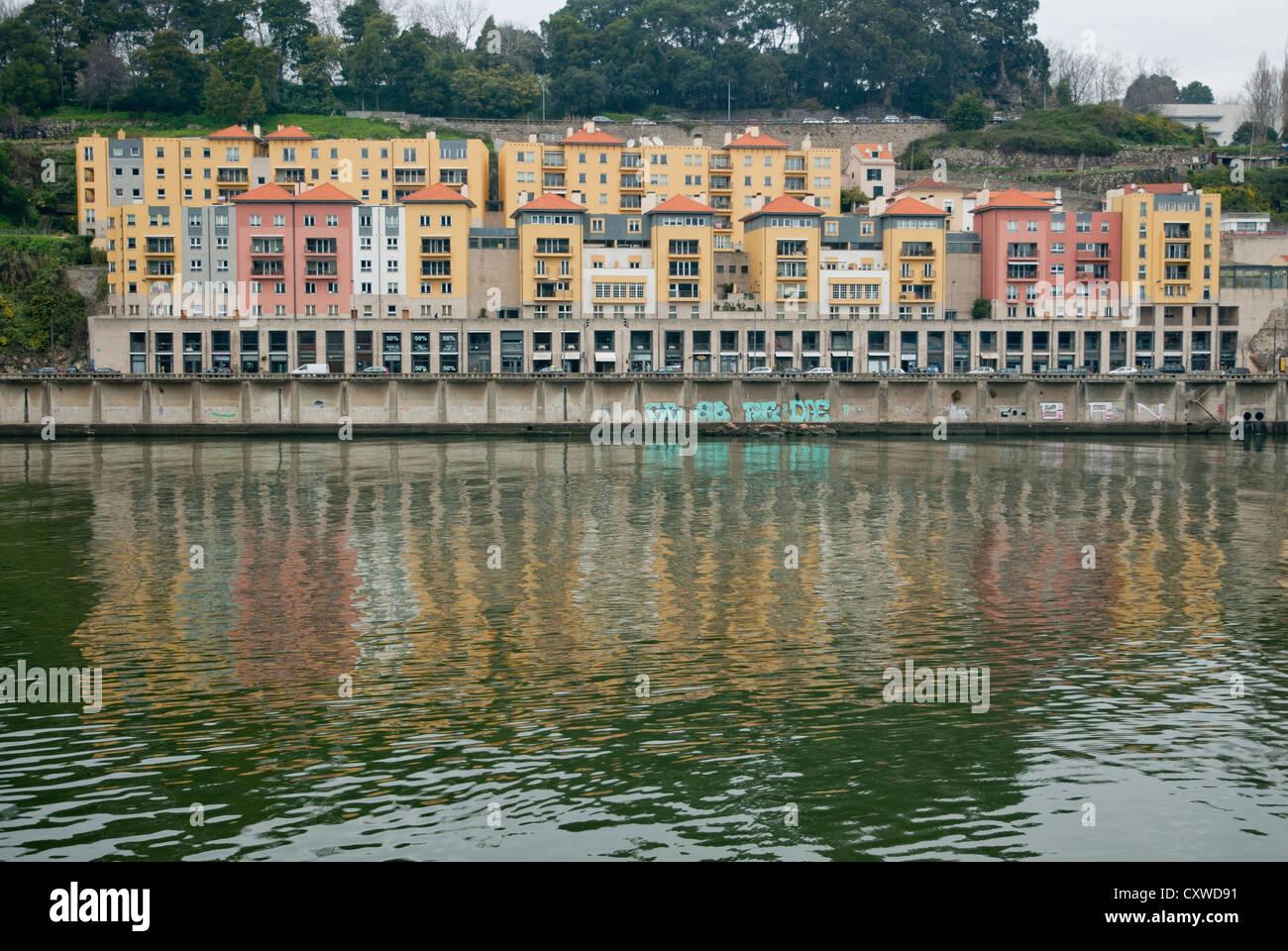 Porto Afurada - douro river - Porto Portugal - Stock Image