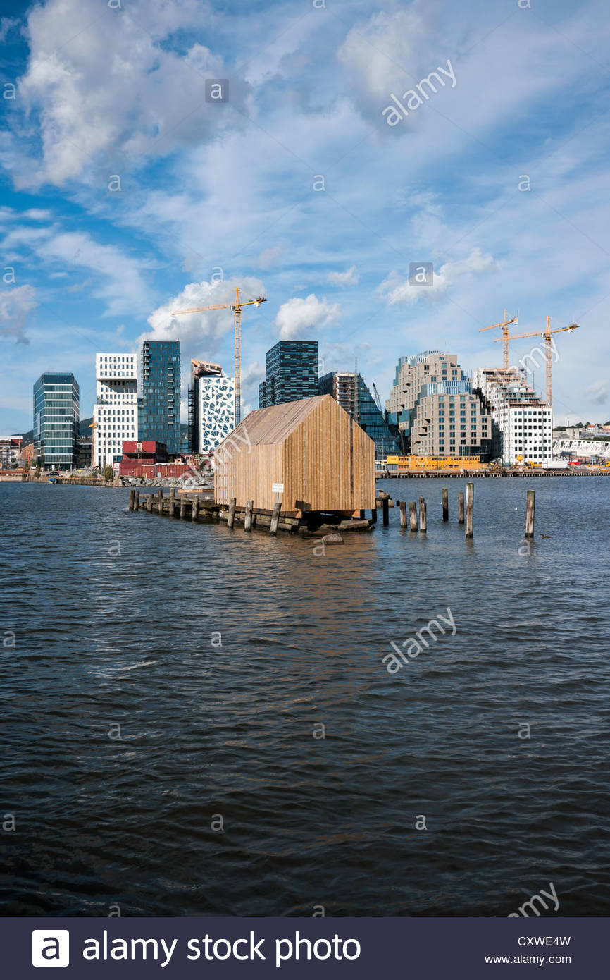 Barcode Project construction; part of the Fjordcity development on the Oslo waterfront: Oslo, Norway. - Stock Image