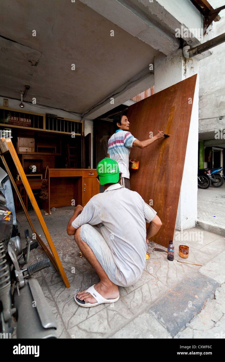 Carpenters in Jakarta, Indonesia - Stock Image