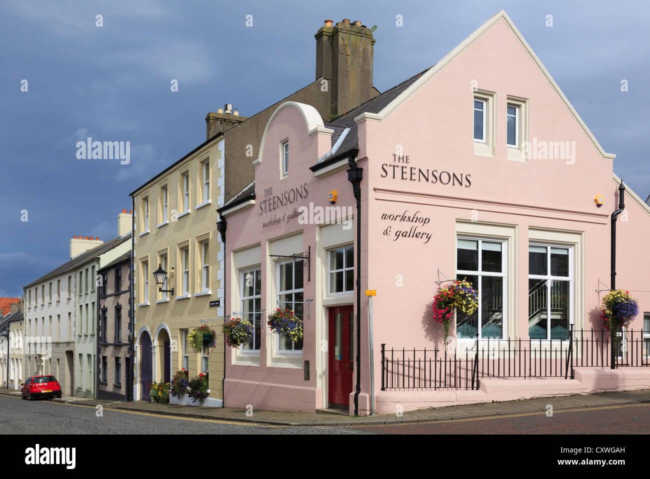 Steenson's goldsmiths workshop and gallery in Glenarm, County Antrim, Northern Ireland, UK - Stock Image
