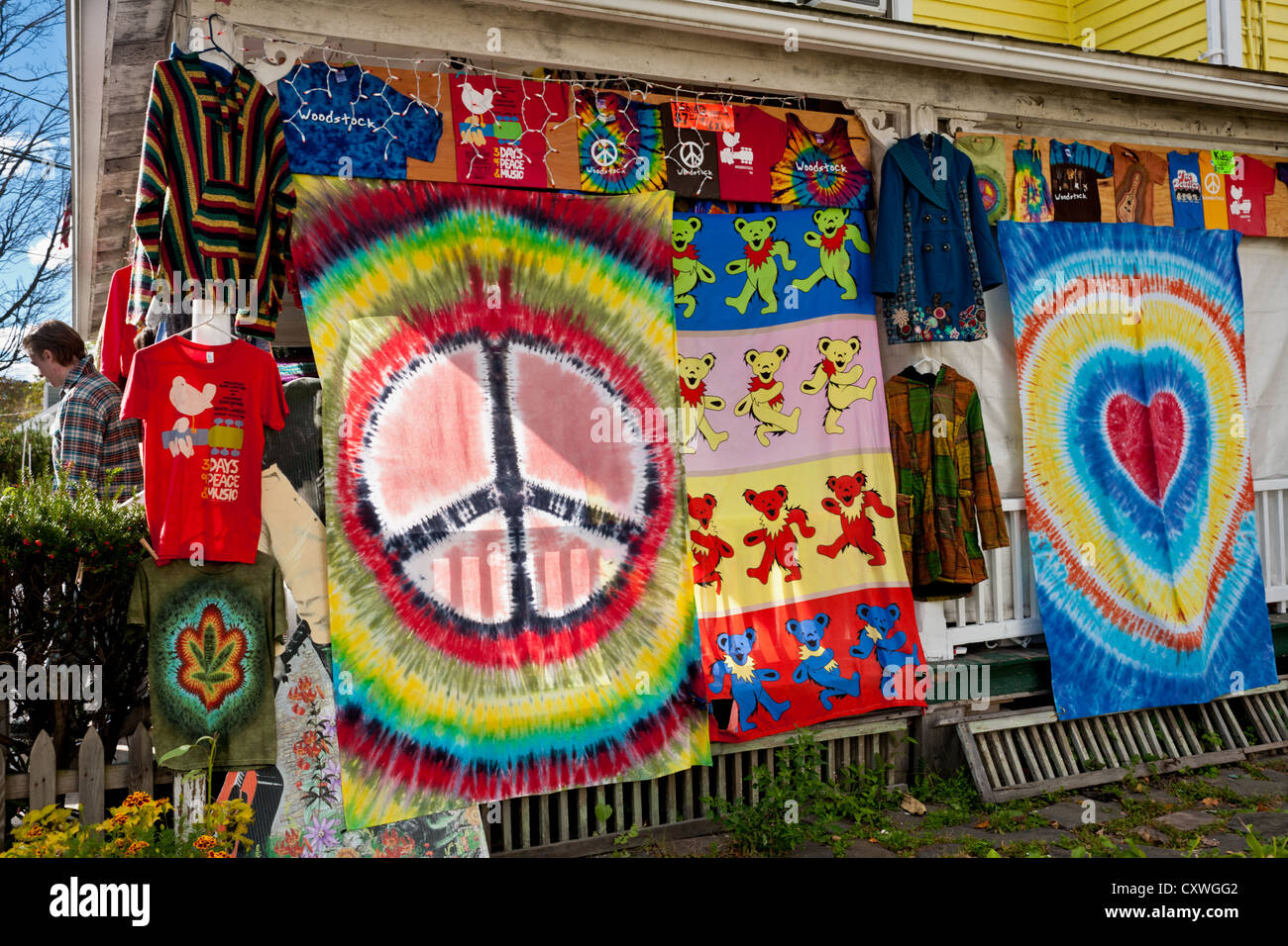 A 'head shop' in Woodstock, New York State, in the Catskills - Stock Image