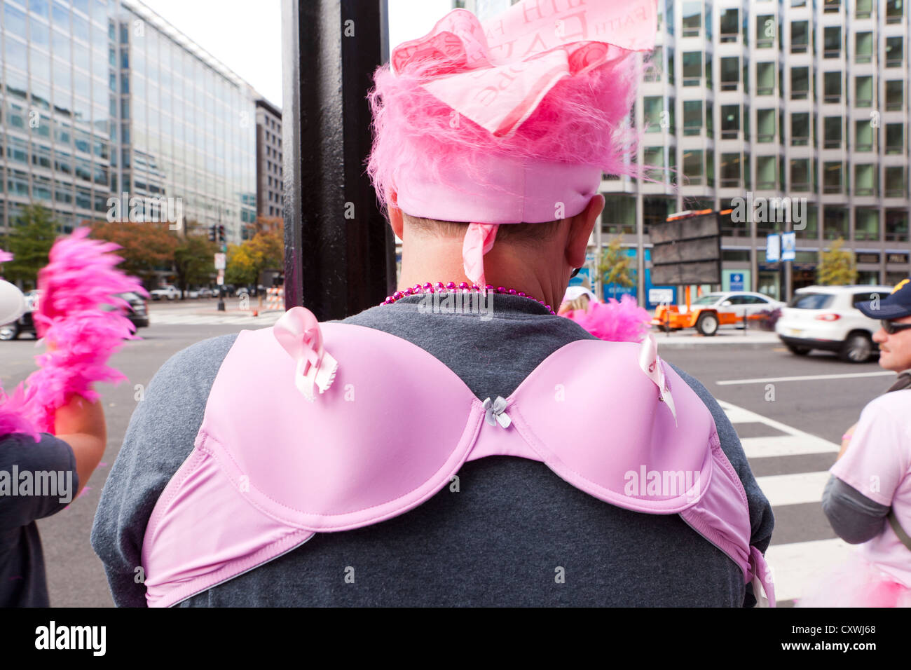 Man dressed in costume at the Susan G. Komen Race for the Cure - Washington, DC - Stock Image
