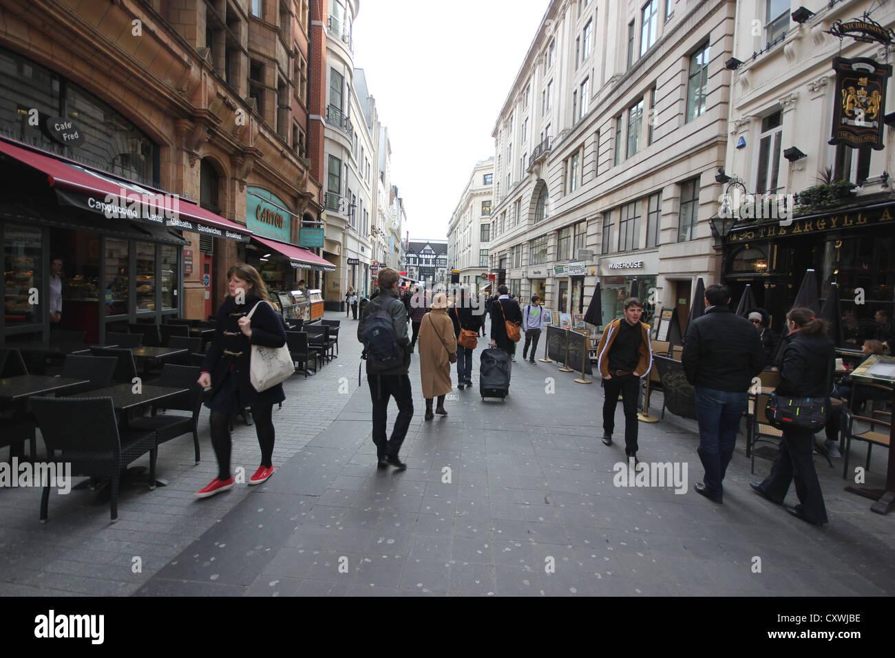 a wideangle view of Bond Street, London, England, photoarkive - Stock Image