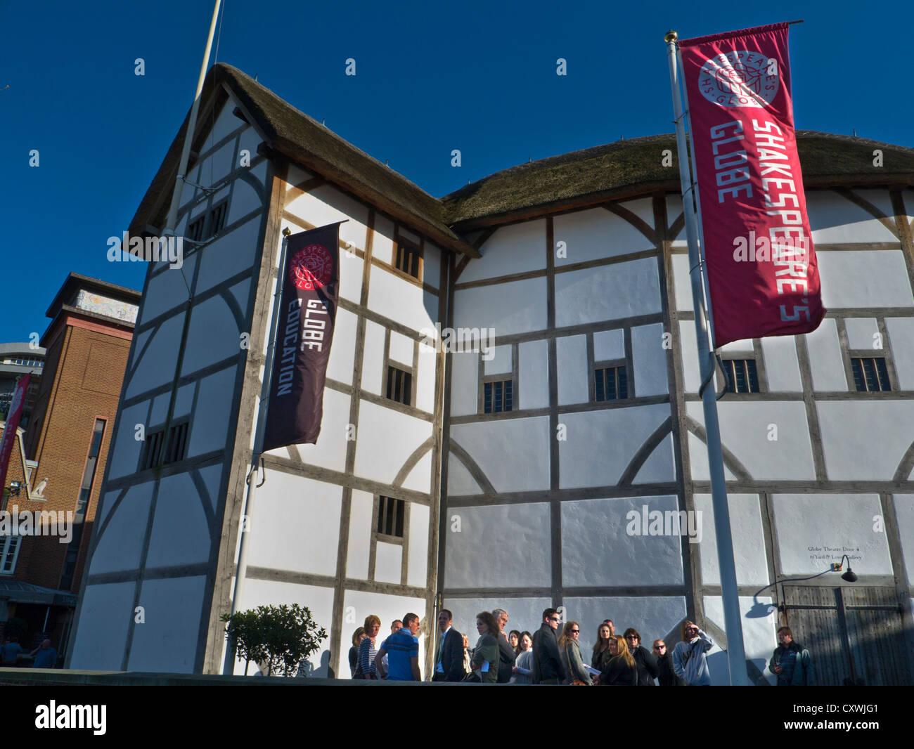 The Globe Theatre London SouthBank England UK - Stock Image