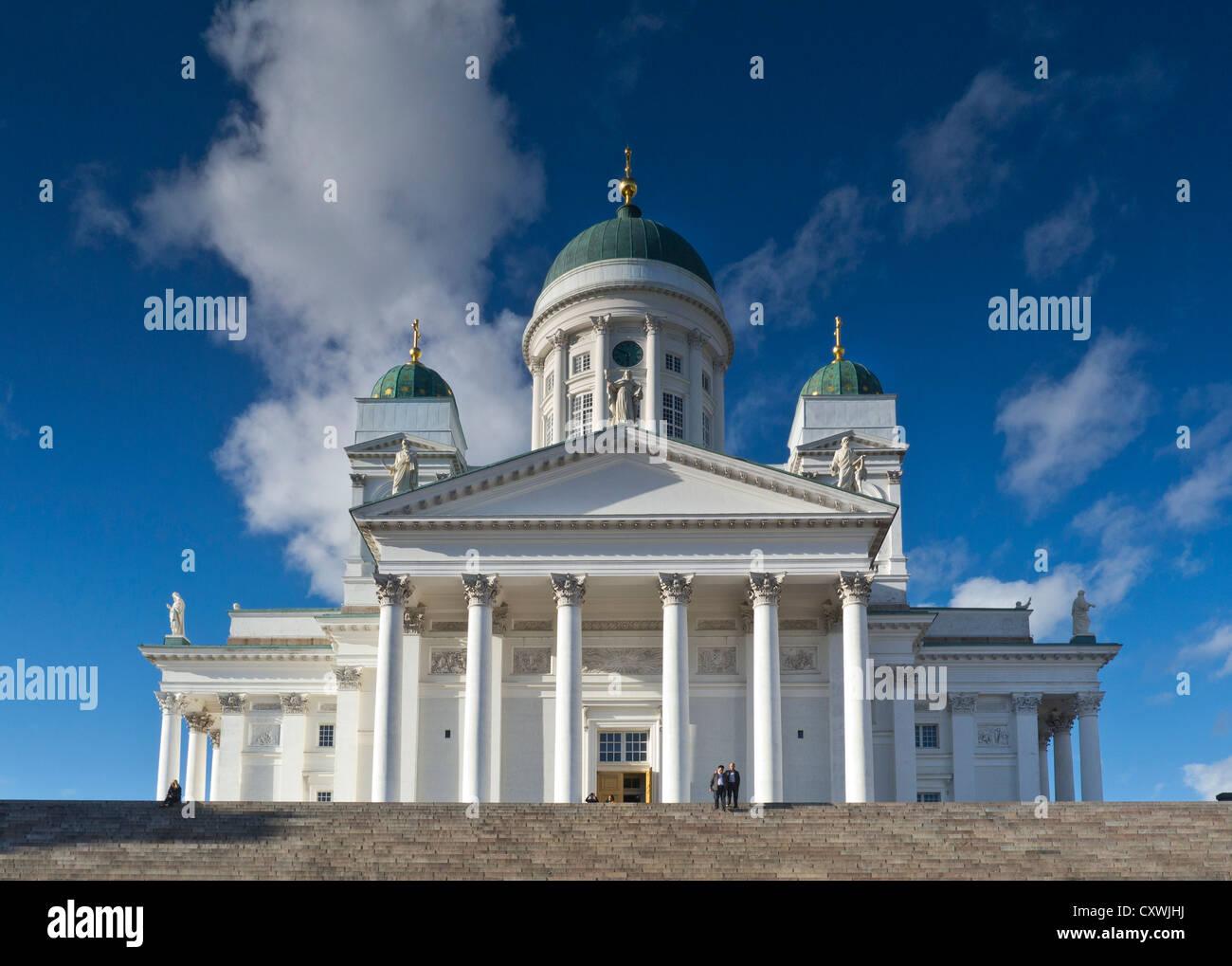 The landmark Helsinki Cathedral Senate Square Helsinki Finland - Stock Image