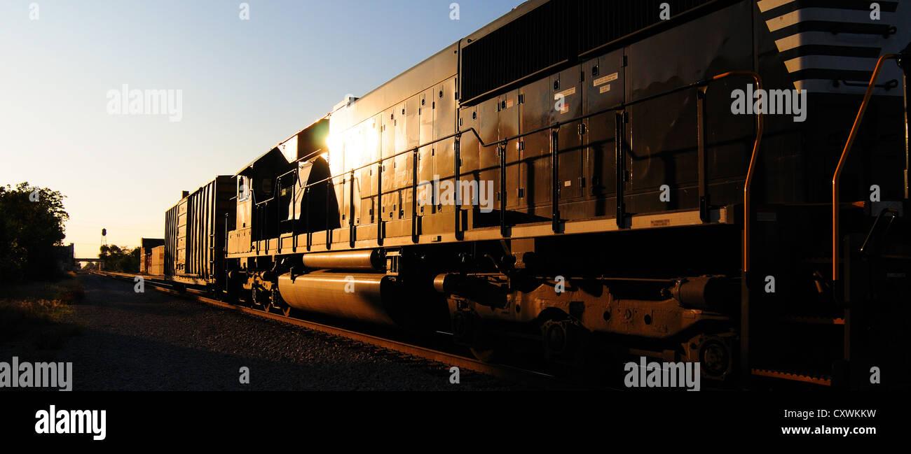 A Norfolk Southern locomotive - Stock Image