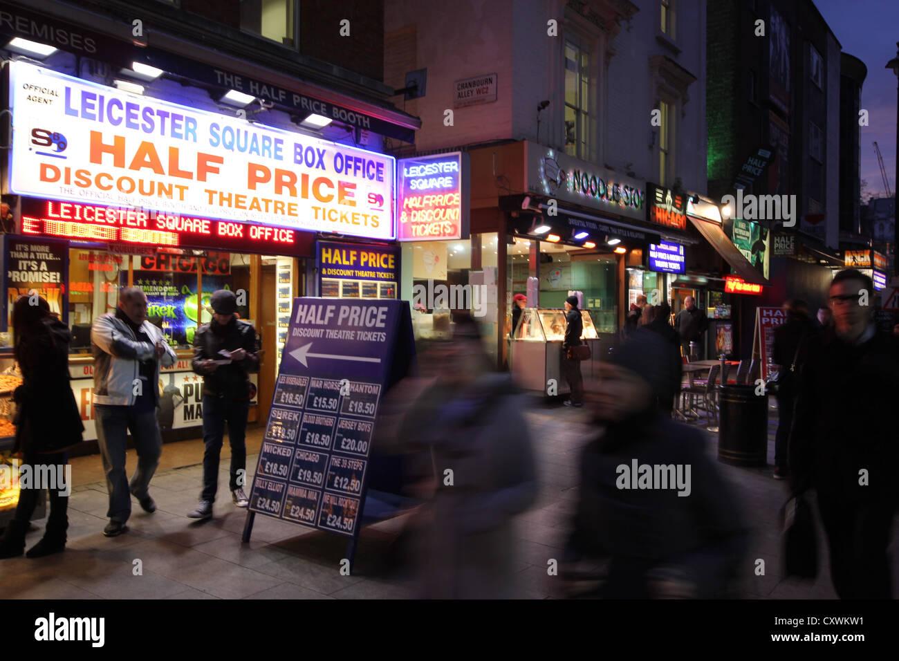 London, Londra. city, europe, walking towards Leicester square, photoarkive - Stock Image