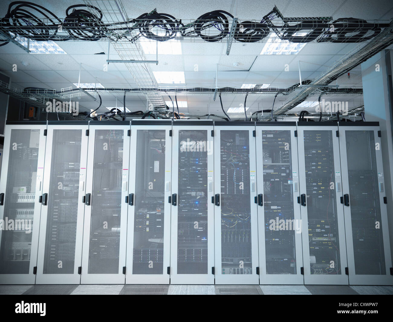 Closets in server room - Stock Image