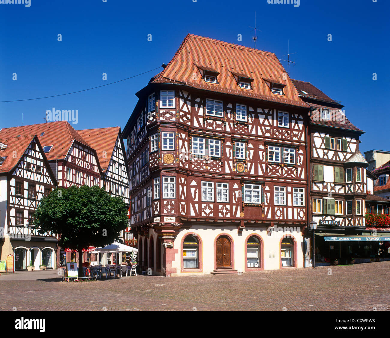 half timbered palm house baden wurttemberg mosbach germany stock photo 50969332 alamy. Black Bedroom Furniture Sets. Home Design Ideas