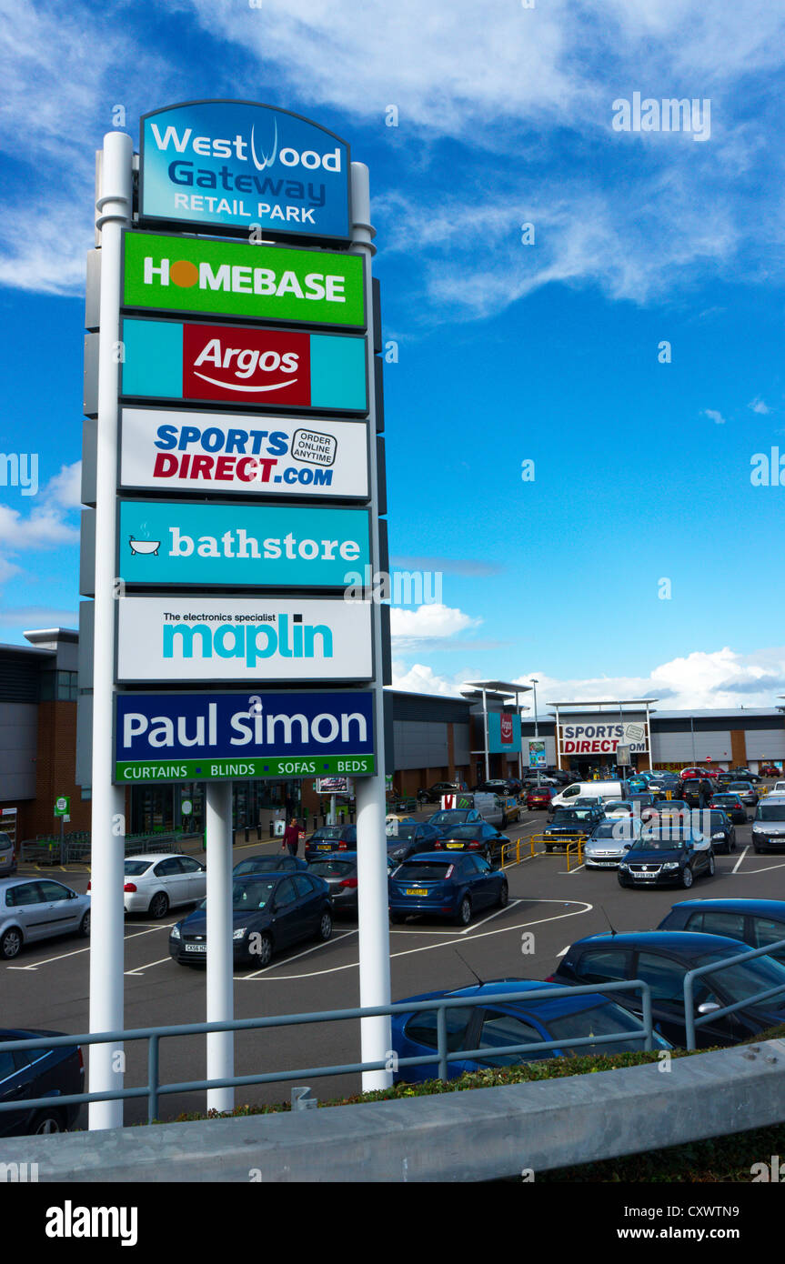 The Westwood Gateway Retail Park on the outskirts of Broadstairs in Kent. - Stock Image