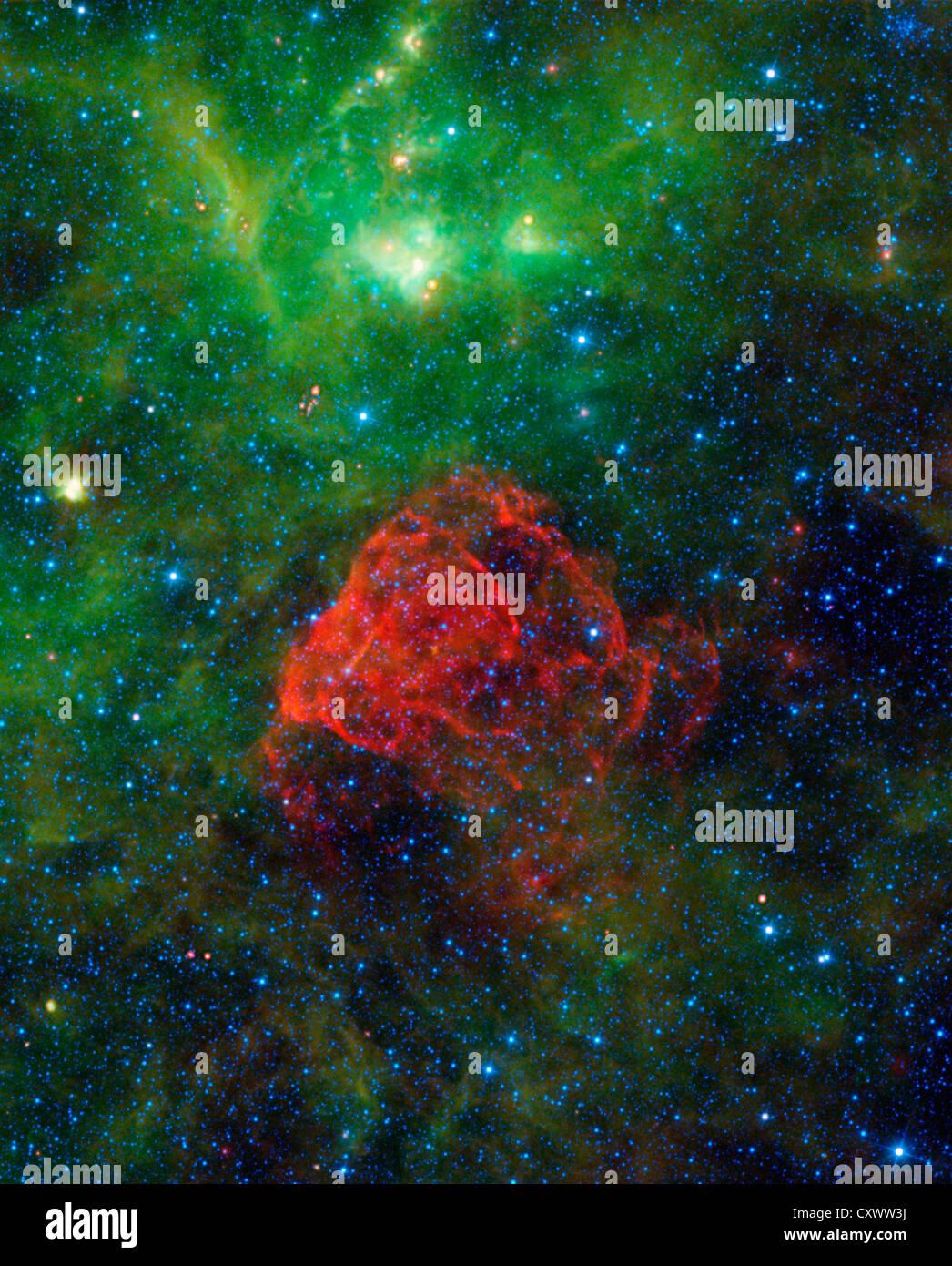 Puppis A, a supernova explosion - Stock Image