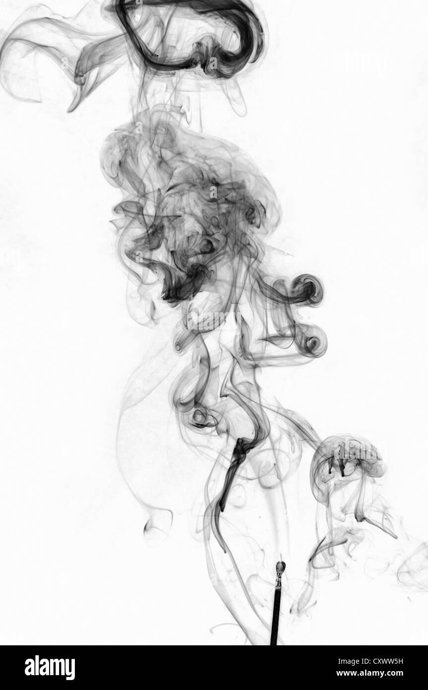 Pattern of smoke turbulence - Stock Image