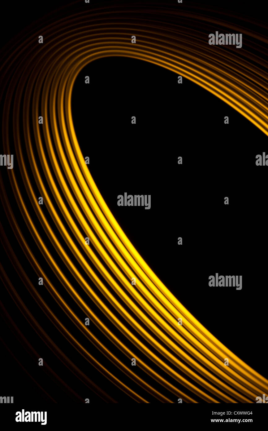 A Golden abstract  Physiogram - Stock Image