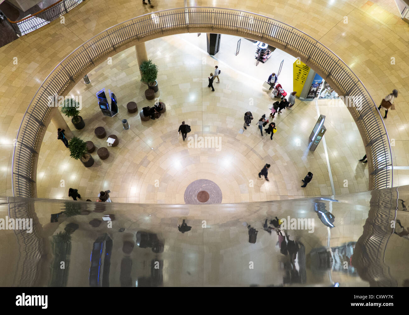 Part of the Bull Ring Shopping Centre in Birmingham, West Midlands as seen from the Selfridges gallery. - Stock Image