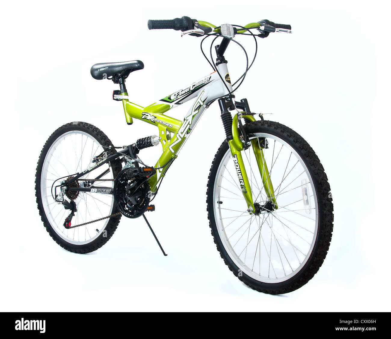 New bike with spring suspension - Stock Image