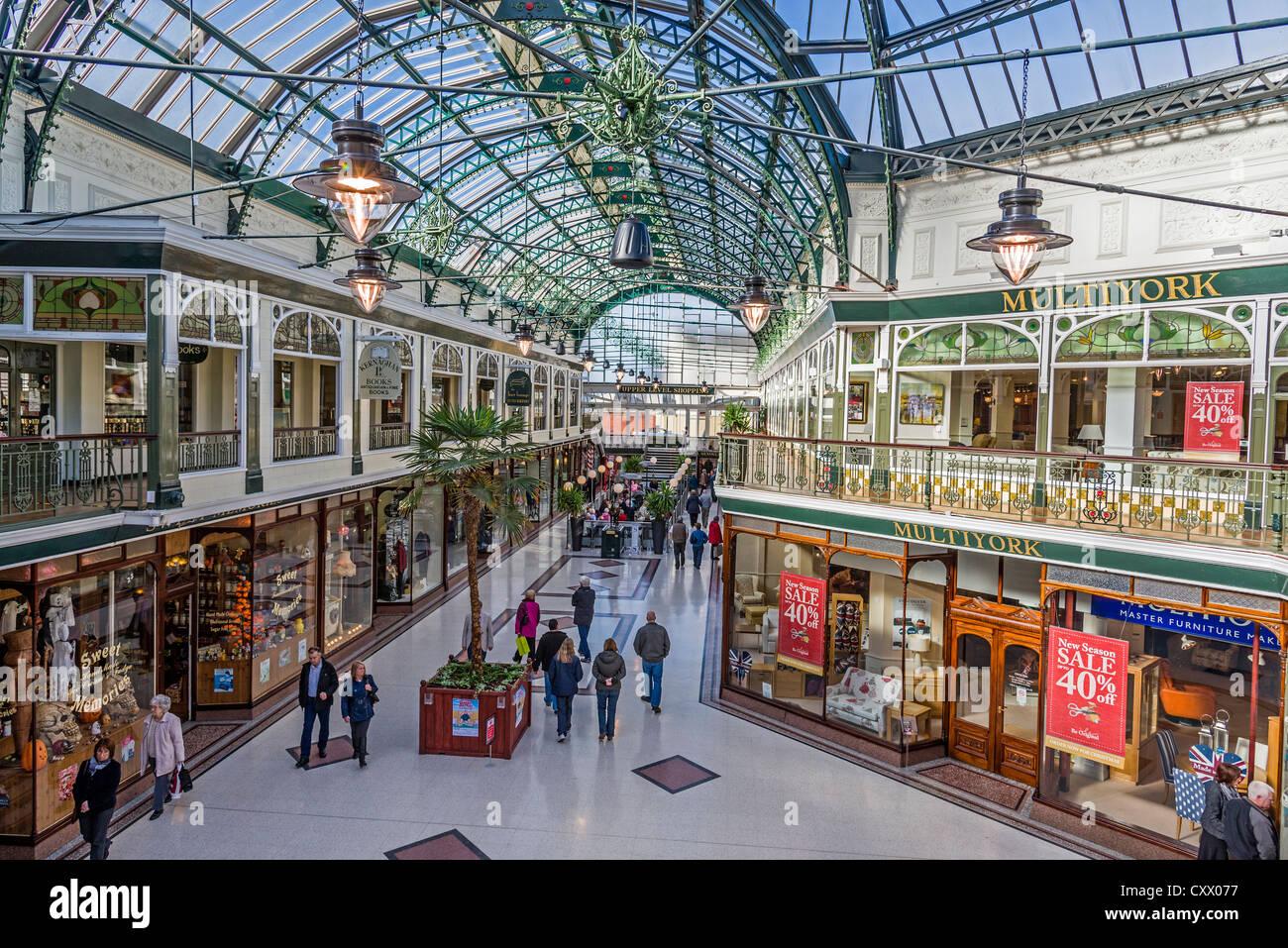 The Wayfarers Arcade in Lord Street, Southport Merseyside. Stock Photo