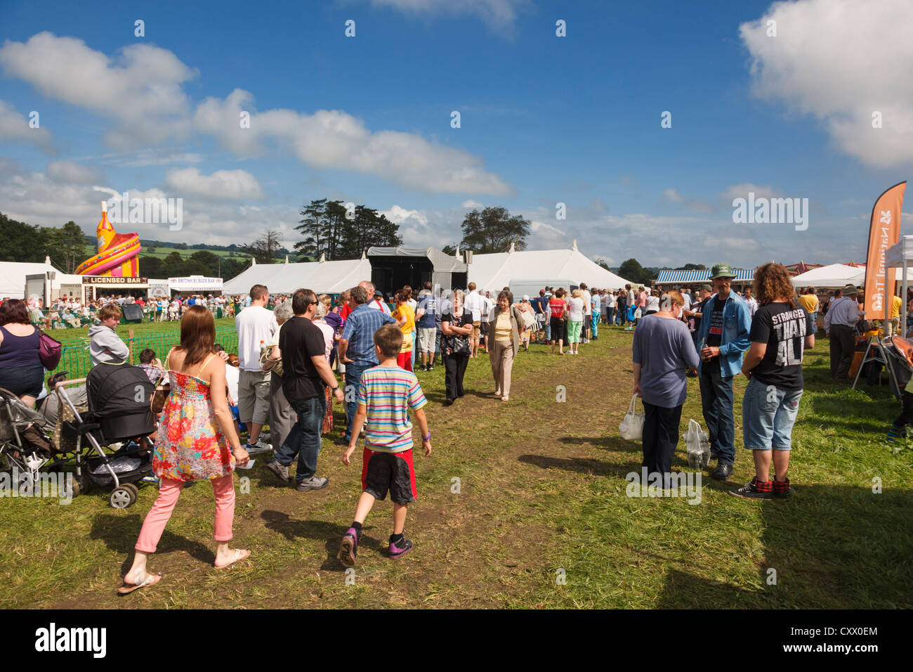 People at the Mid-Somerset agricultural show, UK - Stock Image