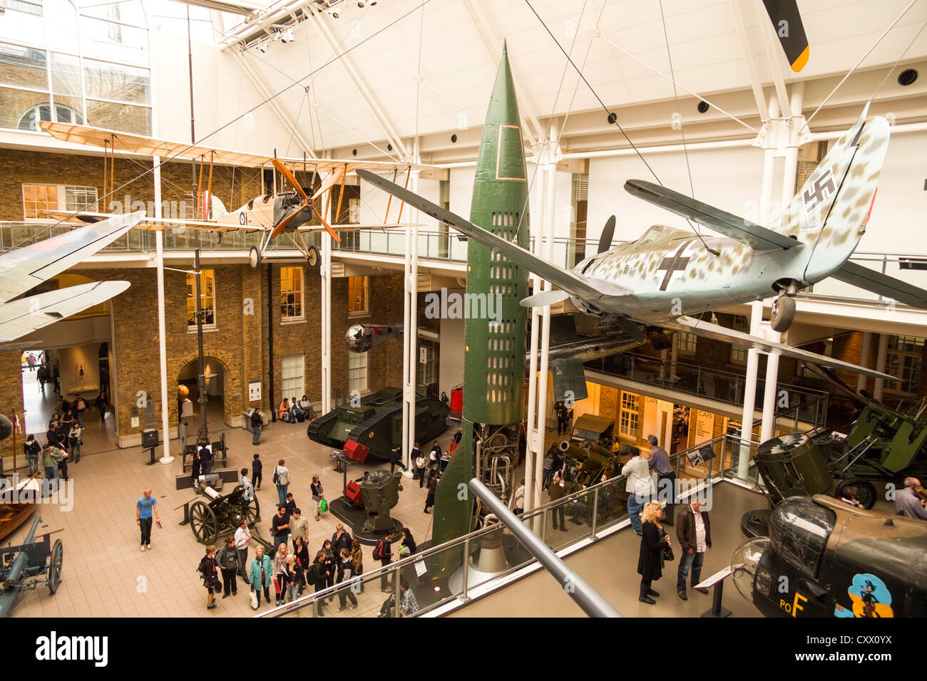 Inside view of Imperial War Museum, London, UK - Stock Image