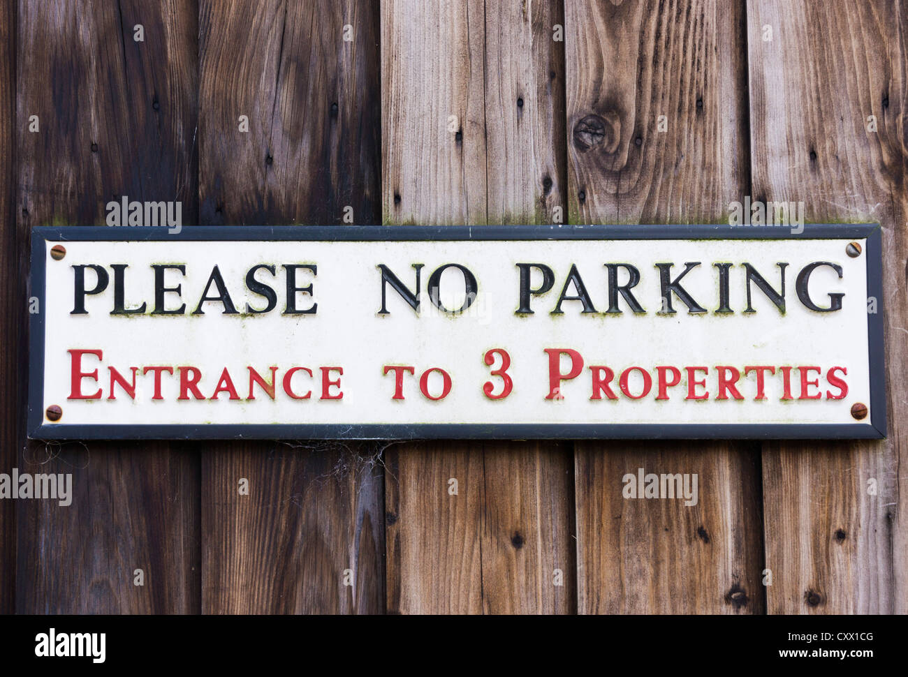 Please no parking sign UK - Stock Image