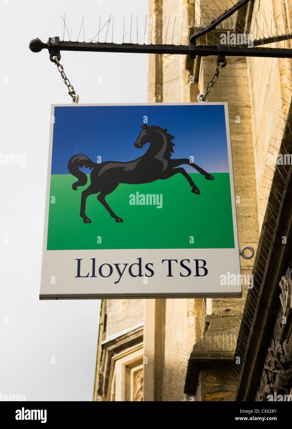 Lloyds TSB bank sign, UK - Stock Image