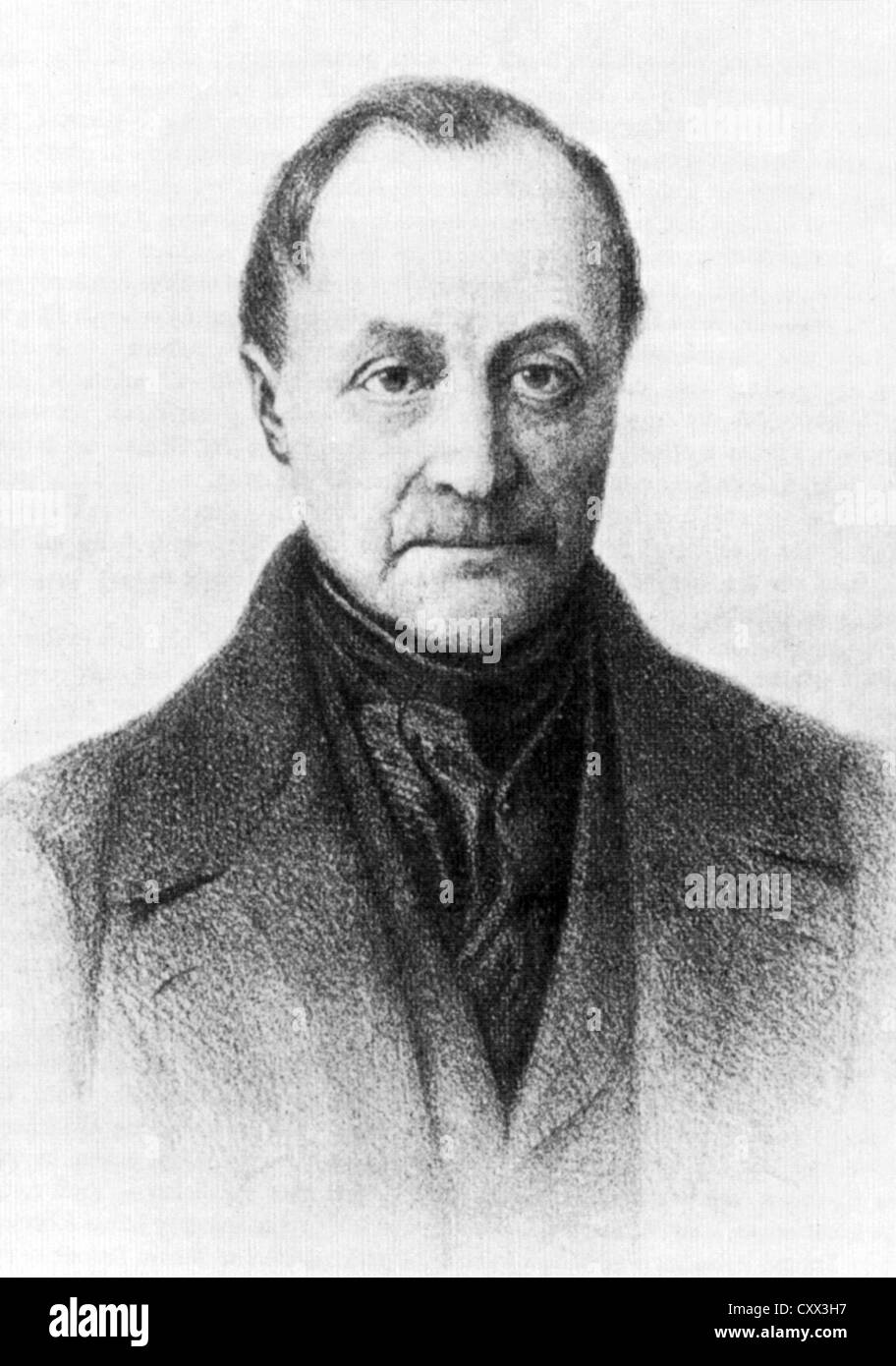 AUGUSTE COMTE (1798-1857) French philosopher - Stock Image