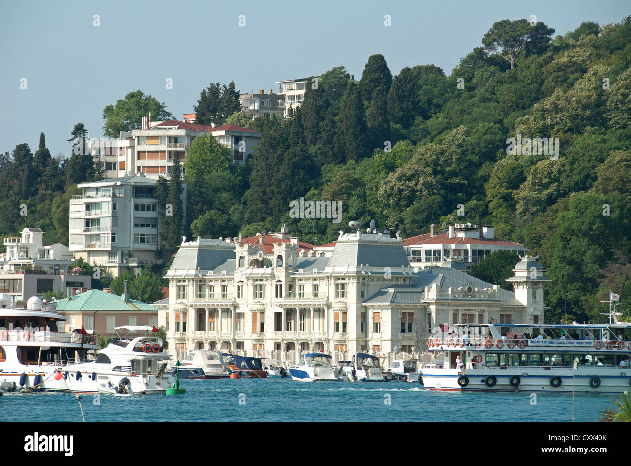 ISTANBUL, TURKEY. The Bosphorus suburb of Bebek, with the ...