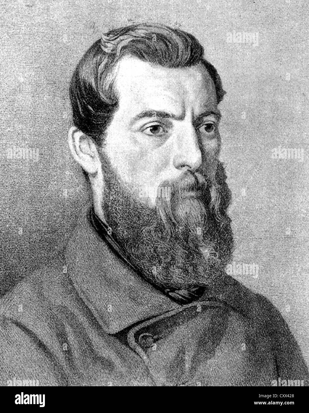 LUDWIG FEUERBACH (1804-1872) German philosopher and anthropologist - Stock Image