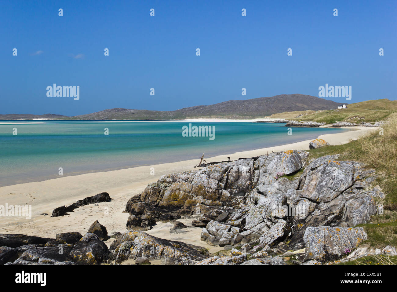 Luskentyre Beach (Outer Hebrides of Scotland) - Stock Image