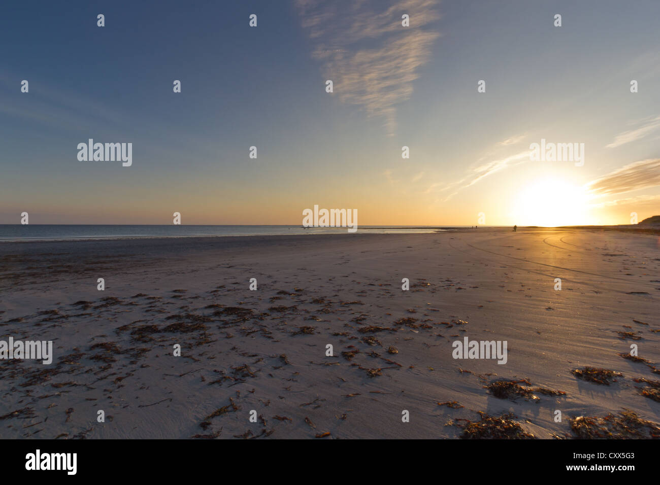 Sunset at Baleshare (Outer Hebrides) - Stock Image