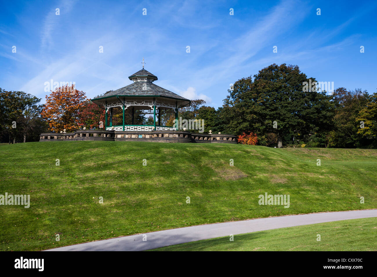 The Bandstand at Greenhead Park Huddersfield Stock Photo
