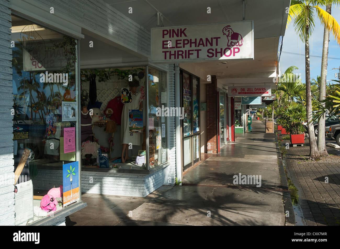Elk284-2029 Hawaii, Hilo, downtown street scene - Stock Image